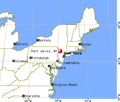 Port Jervis, New York map