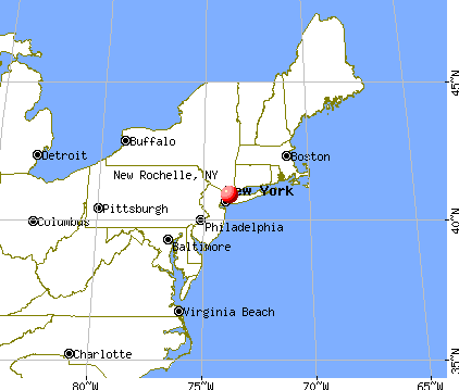 New Rochelle, New York map