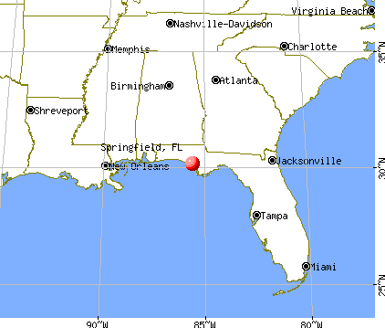 Springfield, Florida map