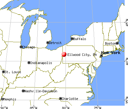 Ellwood City, Pennsylvania map