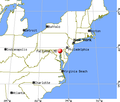 Fallston, Maryland map
