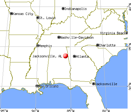 Jacksonville, Alabama map