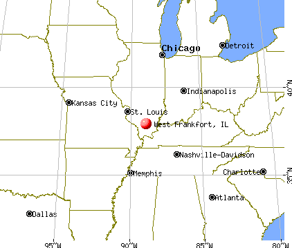 West Frankfort, Illinois map