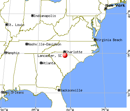 Lancaster, South Carolina map