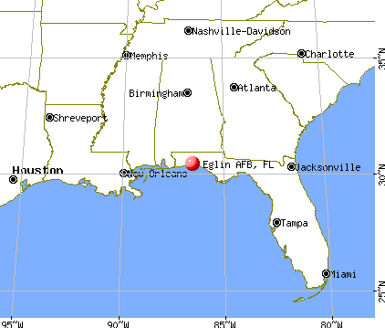 Eglin AFB, Florida map