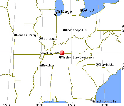 Franklin, Kentucky map