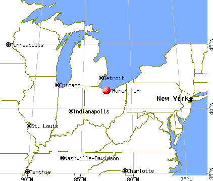 Huron, Ohio map