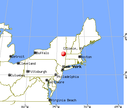 Colonie, New York map