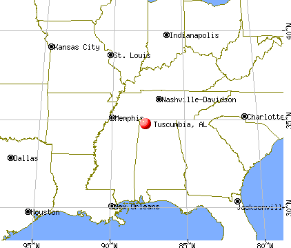 Tuscumbia, Alabama map