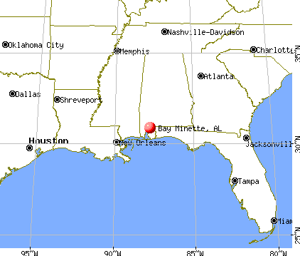 Bay Minette, Alabama map