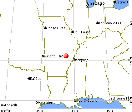 Newport, Arkansas map