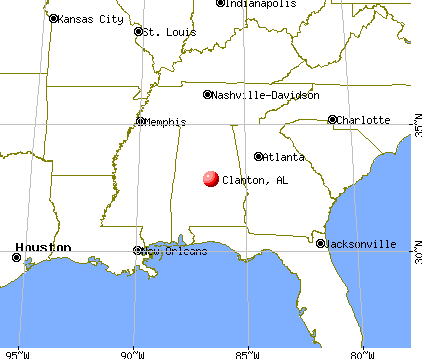 Clanton, Alabama map