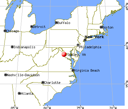 Sudley, Virginia map