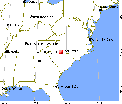 Fort Mill, South Carolina map