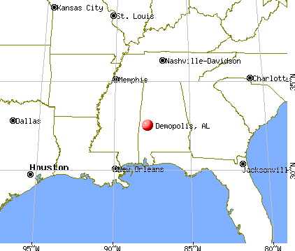 Demopolis, Alabama map