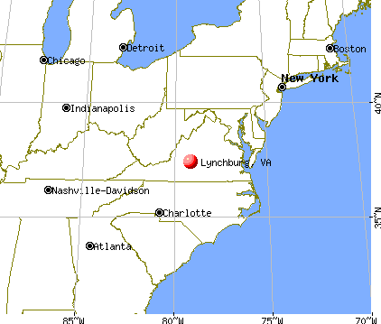 Lynchburg, Virginia map