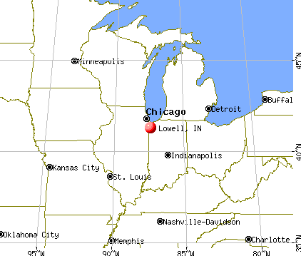 Lowell, Indiana map
