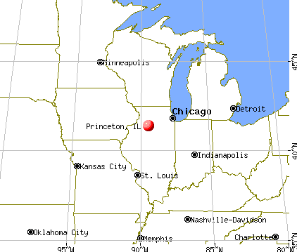 Princeton, Illinois map