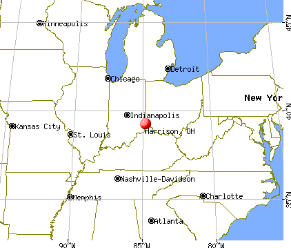 Harrison, Ohio map