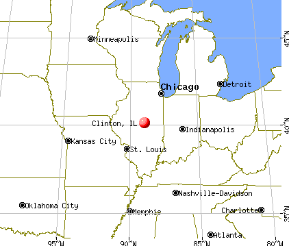Clinton, Illinois map