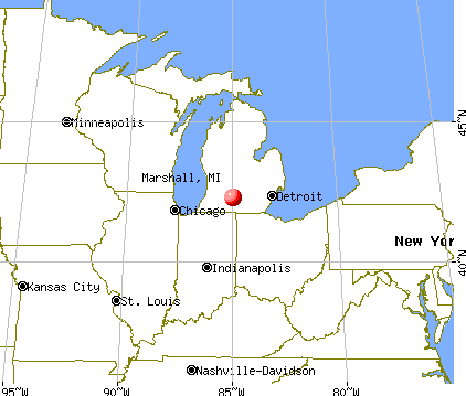 Marshall, Michigan map