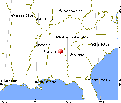 Boaz, Alabama map