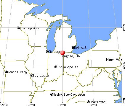 Angola, Indiana map