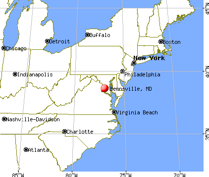 Bennsville, Maryland map