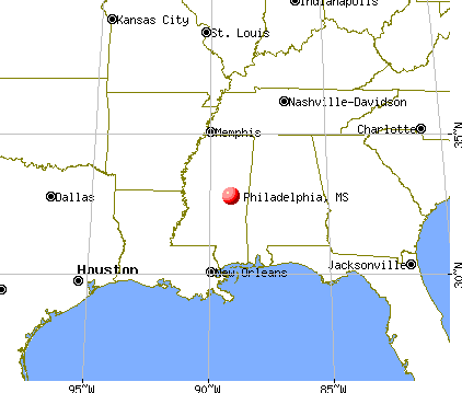 Philadelphia, Mississippi map