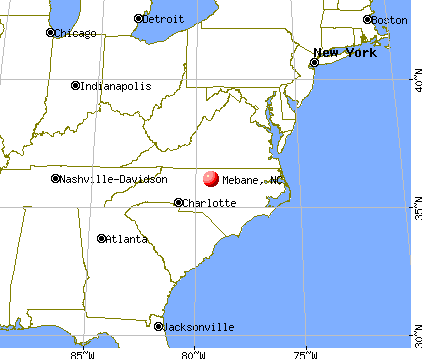 Mebane, North Carolina map