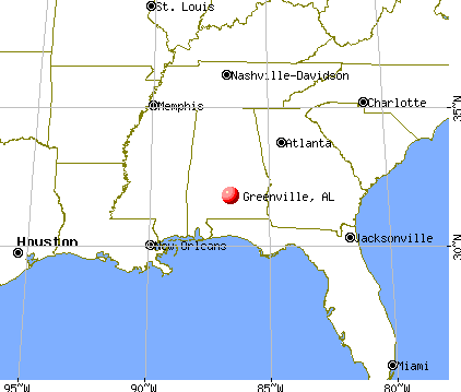 Greenville, Alabama map