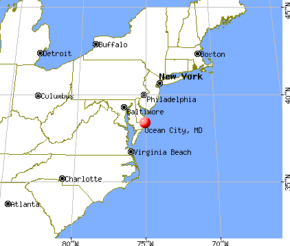 Ocean City, Maryland map