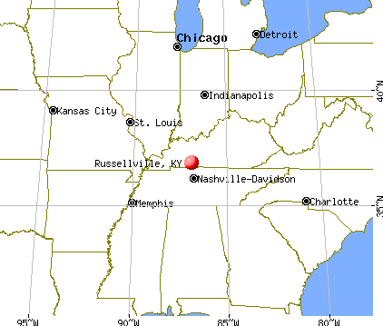 Russellville, Kentucky map