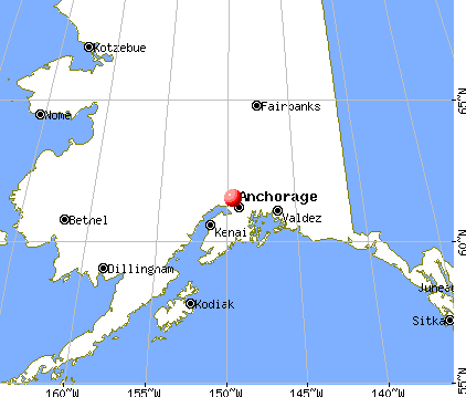 Knik-Fairview, Alaska map