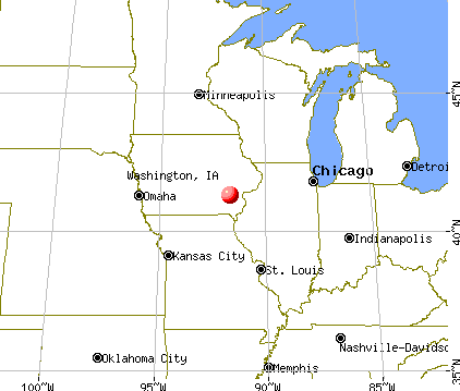 Washington, Iowa map