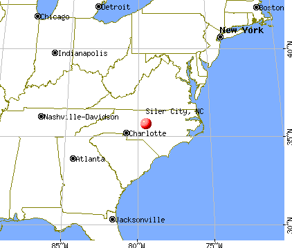 Siler City, North Carolina map