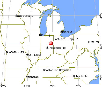 Hartford City, Indiana map