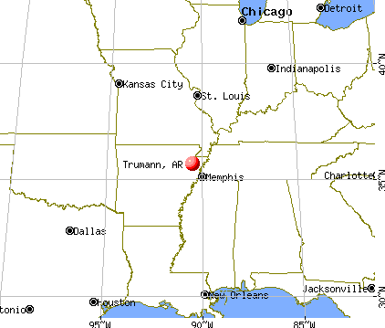 Trumann, Arkansas map
