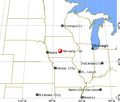 Norwalk, Iowa map