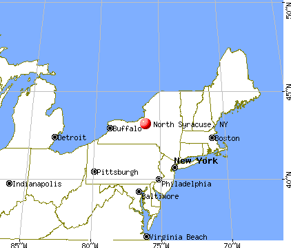 North Syracuse, New York map