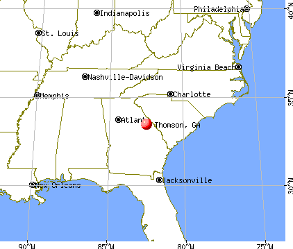 Thomson, Georgia map