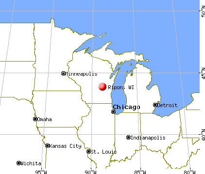 Ripon, Wisconsin map