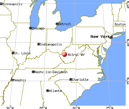 Nitro, West Virginia map