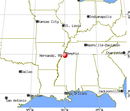 Hernando, Mississippi map