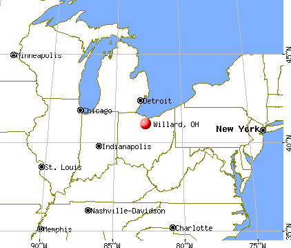 Willard, Ohio map