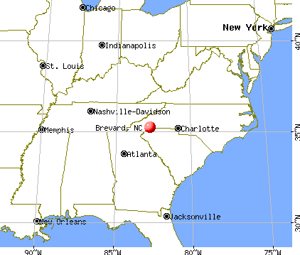 Brevard, North Carolina map