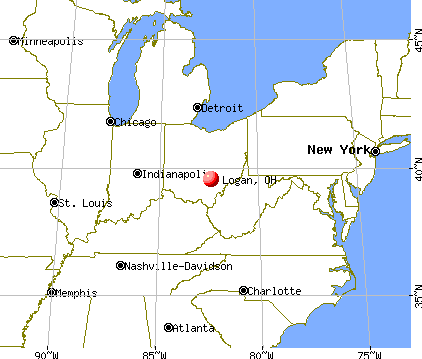 Logan, Ohio map