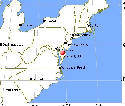 Seaford, Delaware map