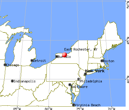 East Rochester, New York map