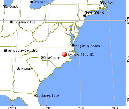 Greenville, North Carolina map